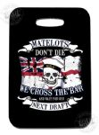PVC Luggage tag - cross the bar